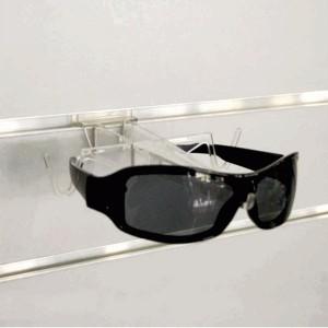 Aussteller Gläser für Holzplatte mit Führungen