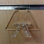 Aussteller Gläser für Holzplatte mit Führungen MOD.2