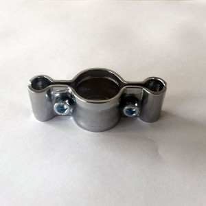 Accessorio per unire Griglia d'acciaio ad un tubo