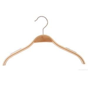 cintre en bois lamellé avec anti-dérapant sans bar 26-32-36-42cm.