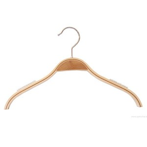 laminated wooden hanger with non-slip without bar 26-32-36-42cm.