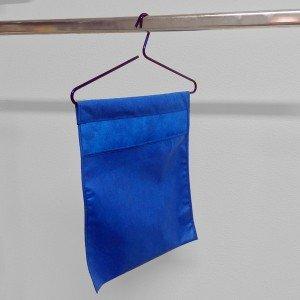 Metall-Kleiderbügel 42 cm. Stange 6 mm. dicke mit TNT Tasche