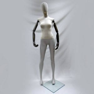 Lady mannequin with head and articulated arms