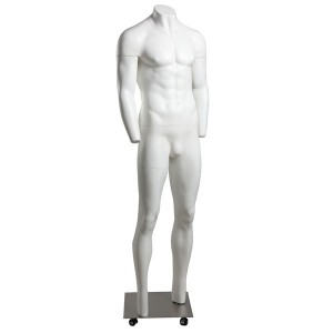 Removable gentleman mannequin for web photo