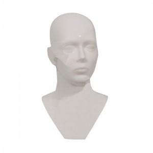 Tête d'homme en polyéthylène