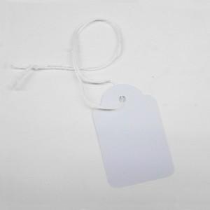 Weiß perforierte Etiketten (100 Einheiten)