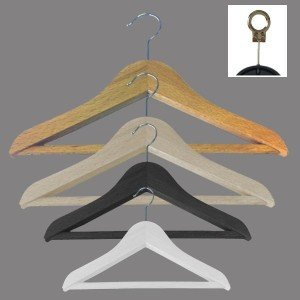 Percha de madera de haya con barra 30-35-40-45 cm. varios colores