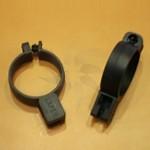 Anello di plastica con sicurezza antifurto aperta 30 mm. nero