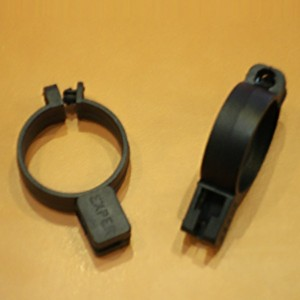 Plastic ring with anti-theft security open 30mm. black