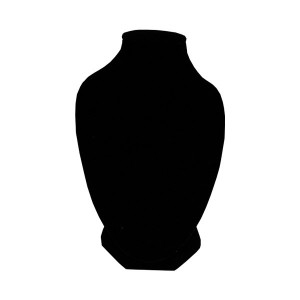 Aussteller Halsketten in schwarzem Samt
