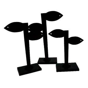 Conjunto de 3 expositores de pendientes de plástico