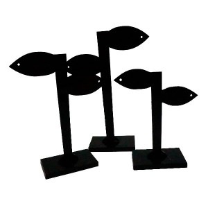 Set 3 aussteller Kunststoff-Ohrringe