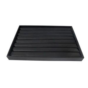 Anneaux de l'exposant en imitation cuir noir doublé