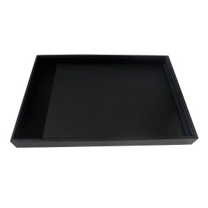 Exhibitor tray in black leatherette jewelry