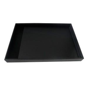 Expositor bandeja para joyería en polipiel negra