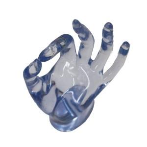 Espositore mano blu