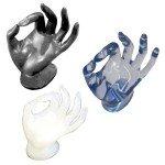 Expositor mano CRISTAL color azul translucido