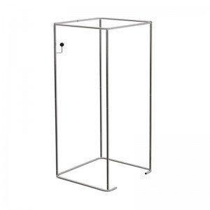 Estructura de probador cuadrado 90x90cm