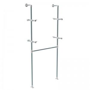 Modulo tubería de pared serie Rohr con barra colgadora y soporta estantes