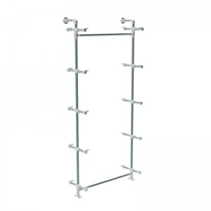 Modulo tubería de pared serie Rohr con 5 soporta estantes
