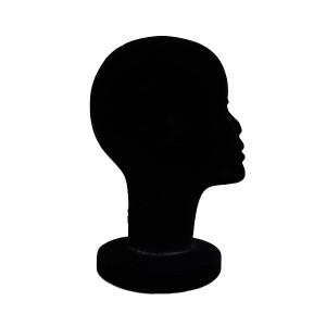 Cabeza de mujer de corcho en terciopelo