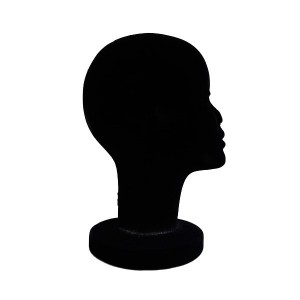 Cork woman's head in velvet