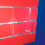 Brochure holders panel supports slat