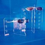 Aussteller Gläser mit Spiegel für 3-6-10 Einheiten