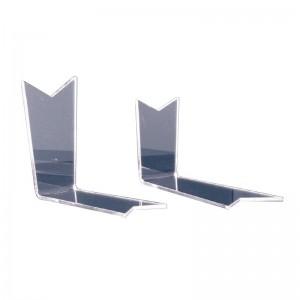 """Expositor de calzado simple con picos en forma de """"L"""""""