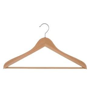 Kleiderbügel Buchenholz mit Bar 45 cm.