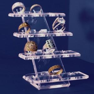 Expositor de 12 anillos sobre 4 bases elevadas