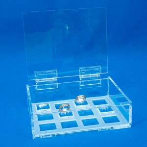 Anelli della scatola espositore con basi 12-49 unità