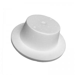 Soporte en porexpan para sombreros o tocados