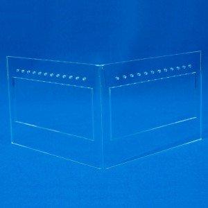 Expositor de pendientes en L para 12-24 pares