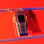 Expositor suport per a mòbil per a panell de lames amb laterals