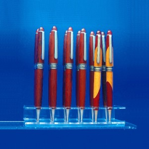 Espositore per 12 penne in piedi