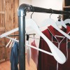 Perchero tubería metálico con ruedas de 100cm altura fija serie Rohr