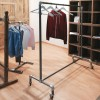Metal coat rack with wheels fixed height 100cm series Rohr