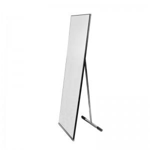 Mirror chrome rectangular tester