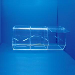 Espositore scatola di caramelle con coperchio scorrevole 3 fori