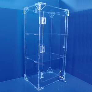 Display Cabinet With Lock And 2 Shelves