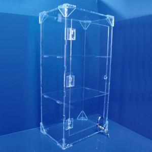 Expositor vitrina con cerradura y 2 baldas