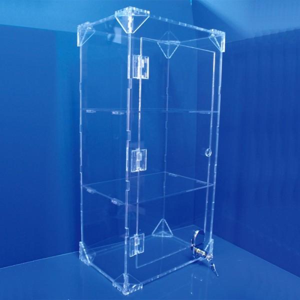 Expositor vitrina amb pany i 2 prestatges