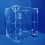 Expositor vitrina con cerradura y balda