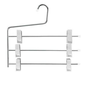Metall-Kleiderbügel 3 Bars mit Klemmen 34 cm.