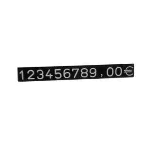 Boîte avec des numéros et symboles relevé pour exposer les prix