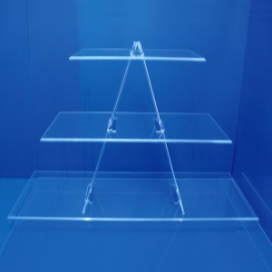Aussteller Dreiecks Treppe 3 Regale