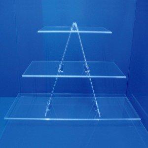 Espositore scala triangolare 3 ripiani