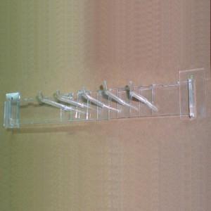 Barra ancoratge paret per a expositors metacrilat