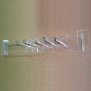 Wall anchor bar for methacrylate displays